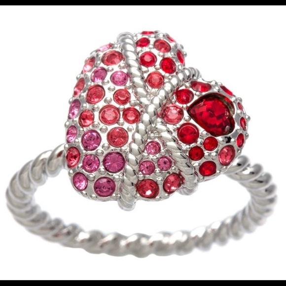 c575f433af606 Swarovski Elements 'Roxane' Heart Ring NWT